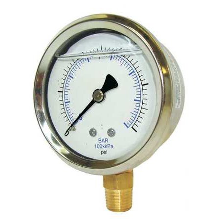 - PIC GAUGES 201L-402S Pressure Gauge, Liquid, 4 In., 6000 psi