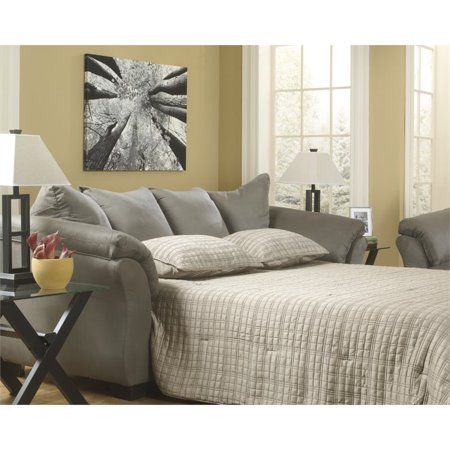 Super Ashley Darcy Full Sofa Chaise Sleeper In Stone Machost Co Dining Chair Design Ideas Machostcouk