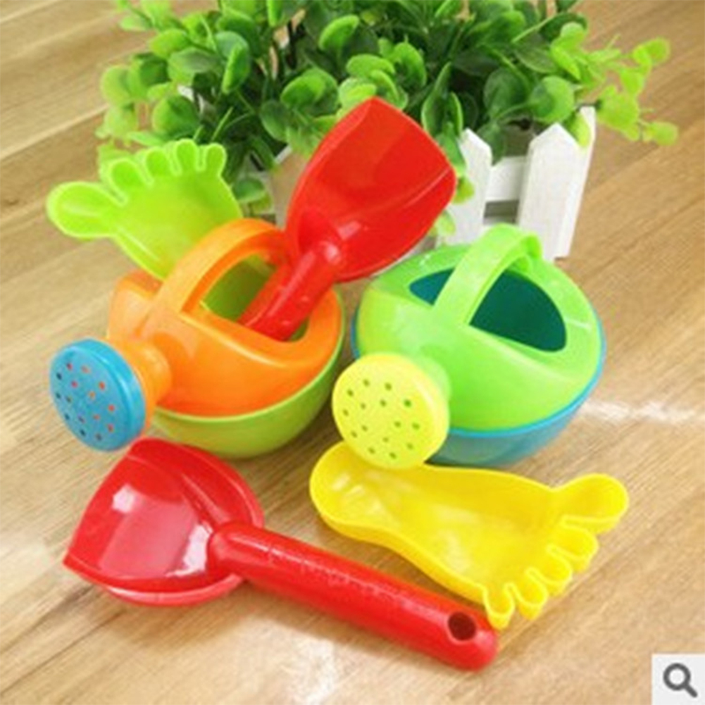 3 Pieces Children Beach Toy Set Sprinkler Shovel Footprint Fun Time Baby Play Water Sand Tools Puzzle Beach Toys Random... by