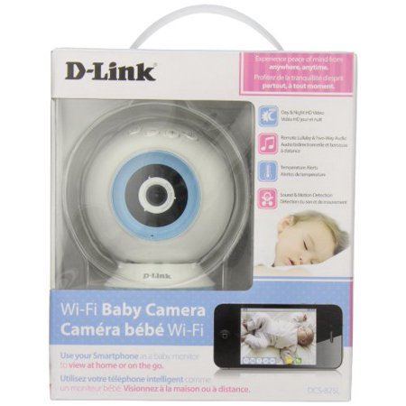 D-Link DCS-825L HD WiFi Baby Camera - Temperature Sensor Personalize Audio 2-Way Talk Local and Remote Video Baby Monitor app for iPhone and (Best App For Room Temperature)