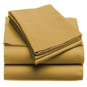 Solid 100GSM Luxury Microfiber Sheet Gold -