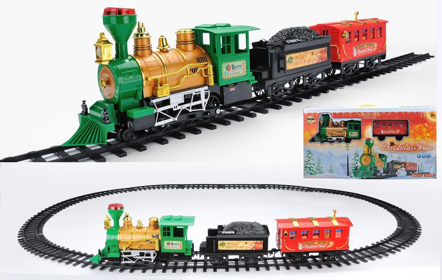 19-Piece Battery Operated Lighted & Animated Christmas Express Train Set with Sound by Northlight