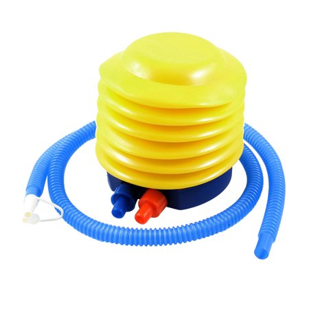Unique Bargains Plastic Hand Foot Pump Inflator Blue Yellow for Balloon