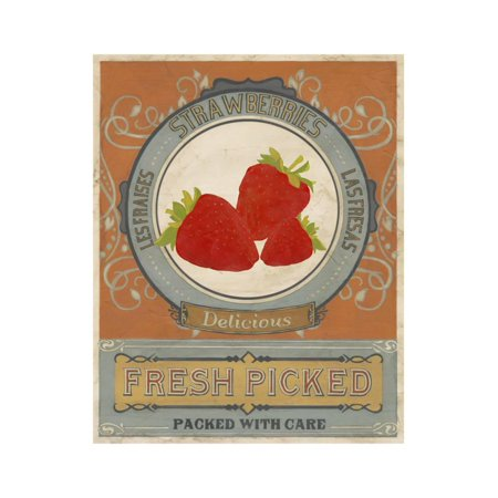 Vintage Produce Sign VI Print Wall Art By June -