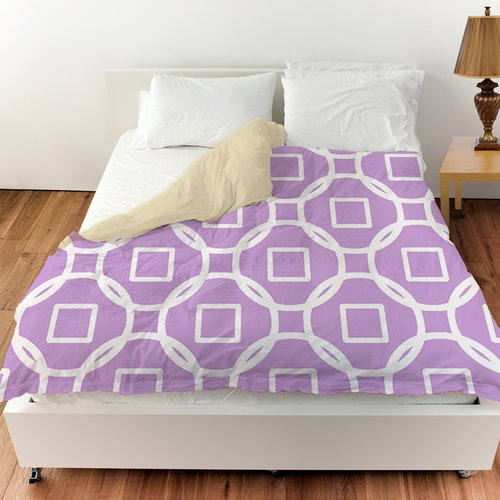 Manual Woodworkers & Weavers Modern Geometric Lavender Duvet Cover