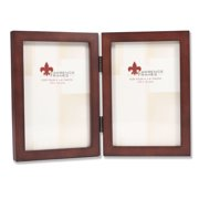 755946D Espresso Wood 4x6 Hinged Double Picture Frame