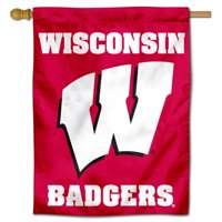 """wisconsin badgers 30"""" x 40"""" two sided house flag"""