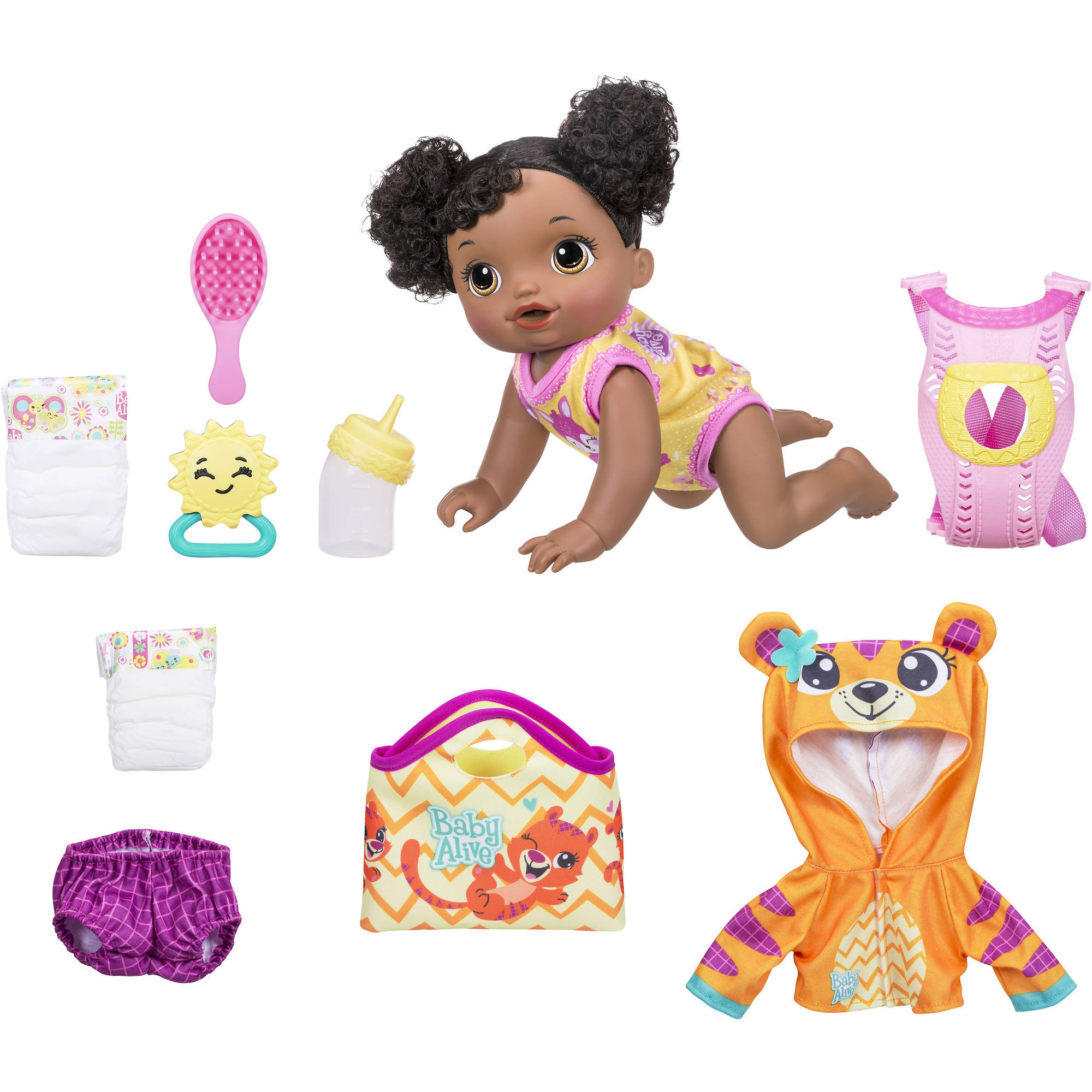 Baby Alive Baby Go Bye Bye - Black Hair (Exclusive Value Bundle)