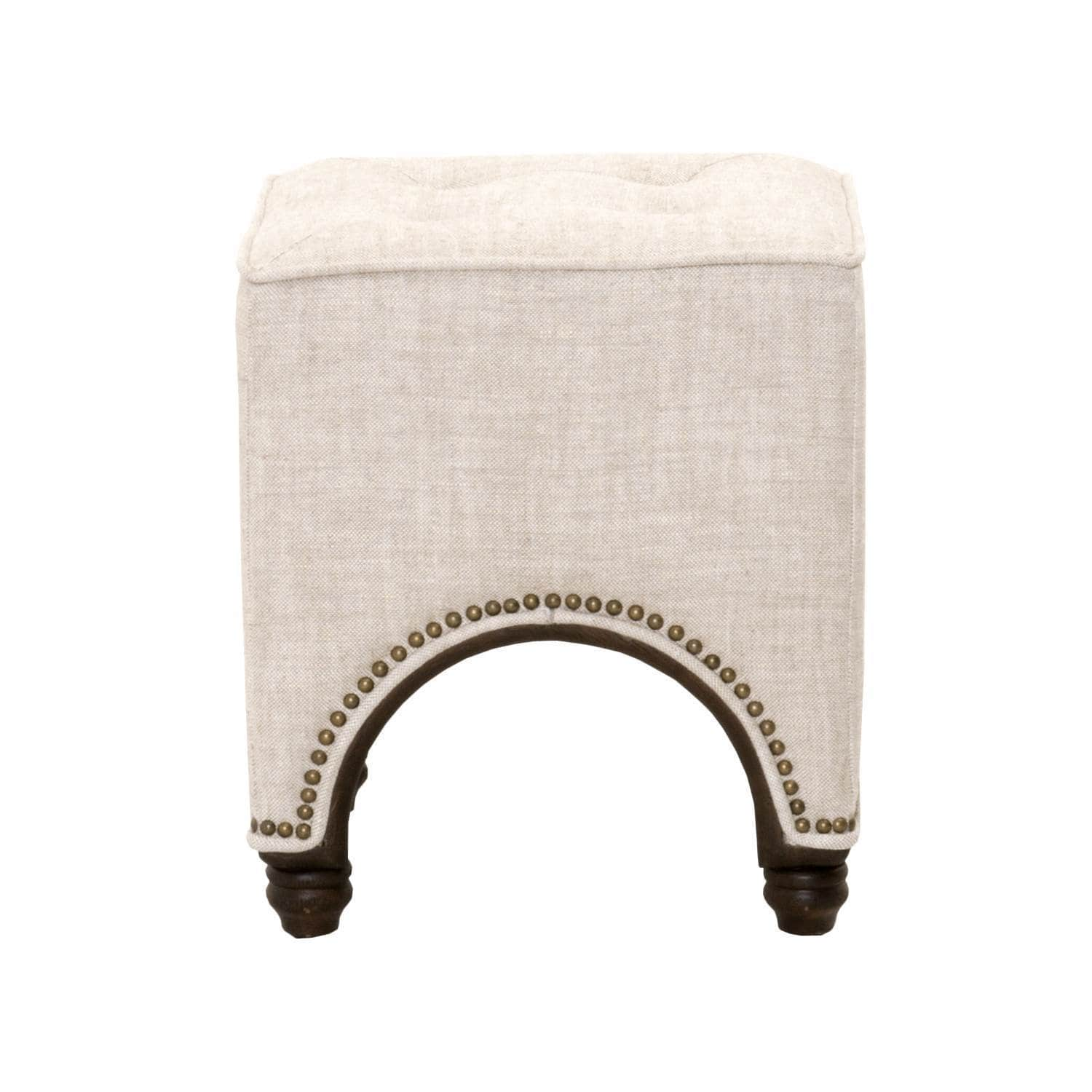Gray Manor Theresa Cream Oak Square Footstool by Overstock