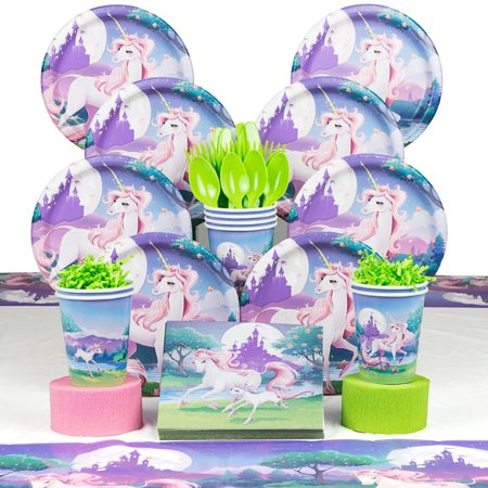 - Unicorn Fantasy Party Supplies Deluxe Kit for 8