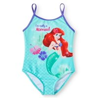 Little Mermaid Girls 4-6X Ariel One Piece Swimsuit
