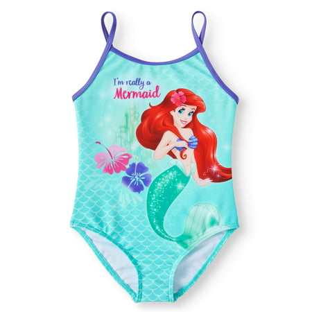 Ariel Mermaid One-Piece Swimsuit (Little Girls)](Disney Swimwear Girls)