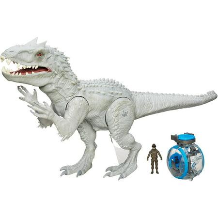 Jurassic World Indominus Rex Figure with Bonus Gyrosphere Vehicle