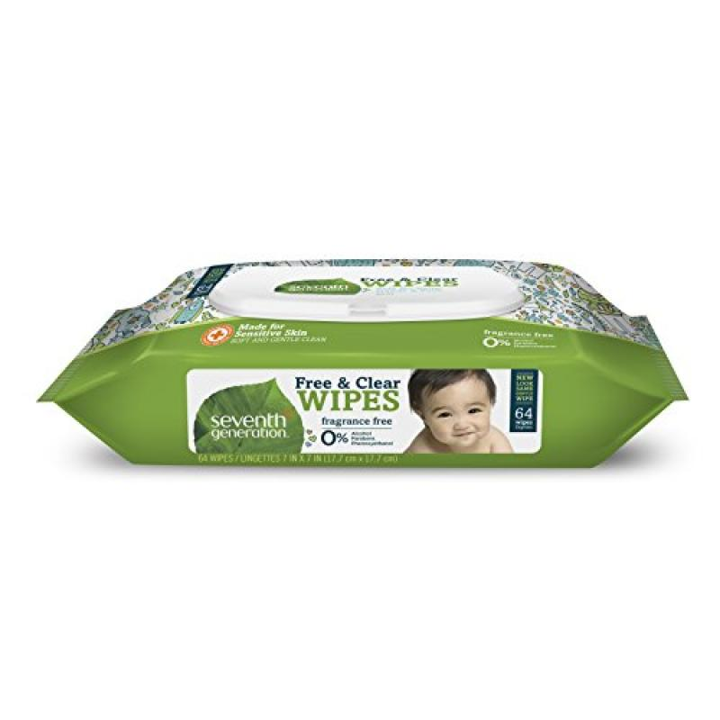 Seventh Generation Thick & Strong Baby Wipes, 64 ct (Pack of 1)