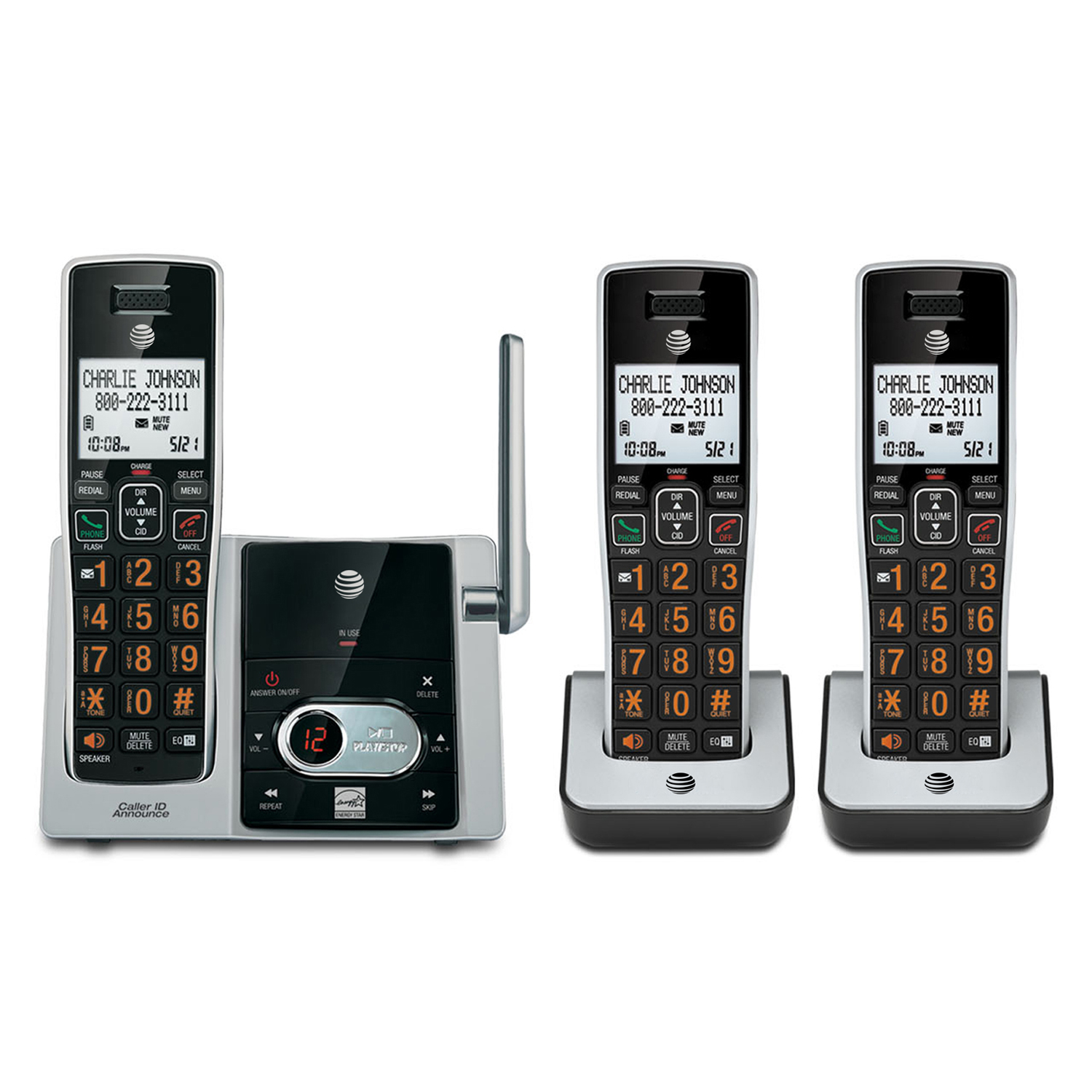 AT&T ATTCL83213 Cordless Answering System With Dual Caller ID/Call Waiting (3-Handset System)