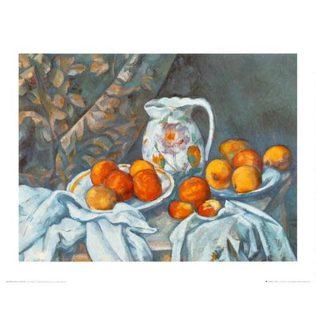 Still Life with Tablecloth Art Print By Paul Cézanne - 20x16 ()