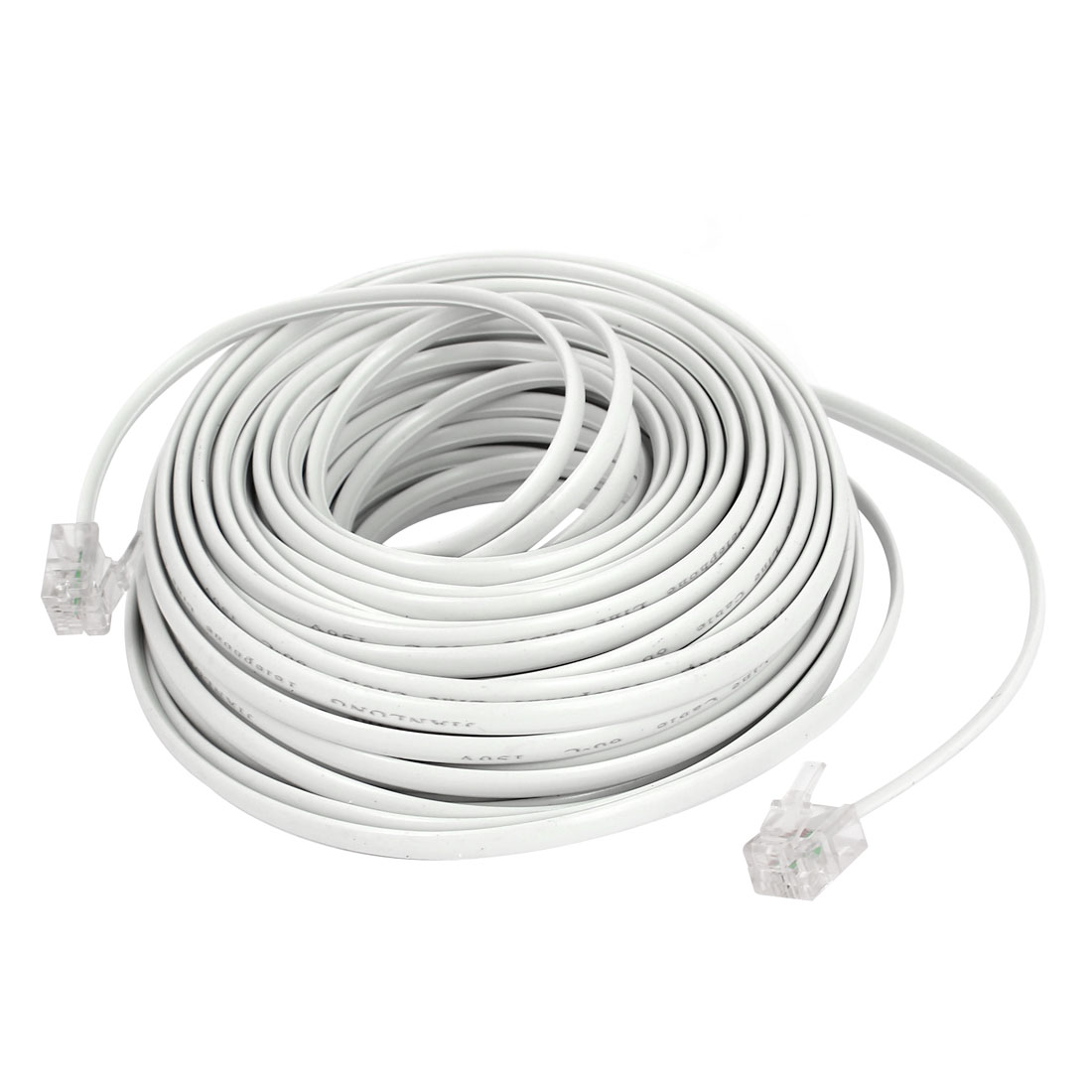 15Mm 50Ft Long RJ11 6P2C Male to Male Plug Telephone Phone Connector Cable Lead