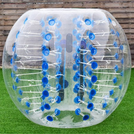 Clear Inflatable Ball (Gymax 1.5M Inflatable Bumper Ball Dia 5' Bubble Body PVC Soccer Ball Human)