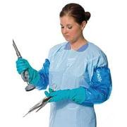 POLYCO 41450 Disposable Gloves, Nitrile, Polyolefin, Powder Free, Teal, M