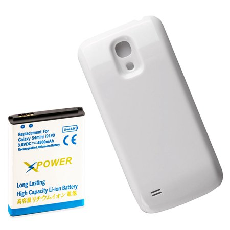 X Power 4800mAh Extended Battery + White Door for Samsung Galaxy S4 Mini i9190