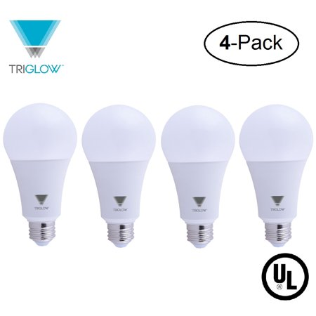 Triglow 4 Pack 22 Watt 150 200 Equivalent Led A21 Bulb Dimmable 3000k Soft White Color 2550 Lumens Ul Listed