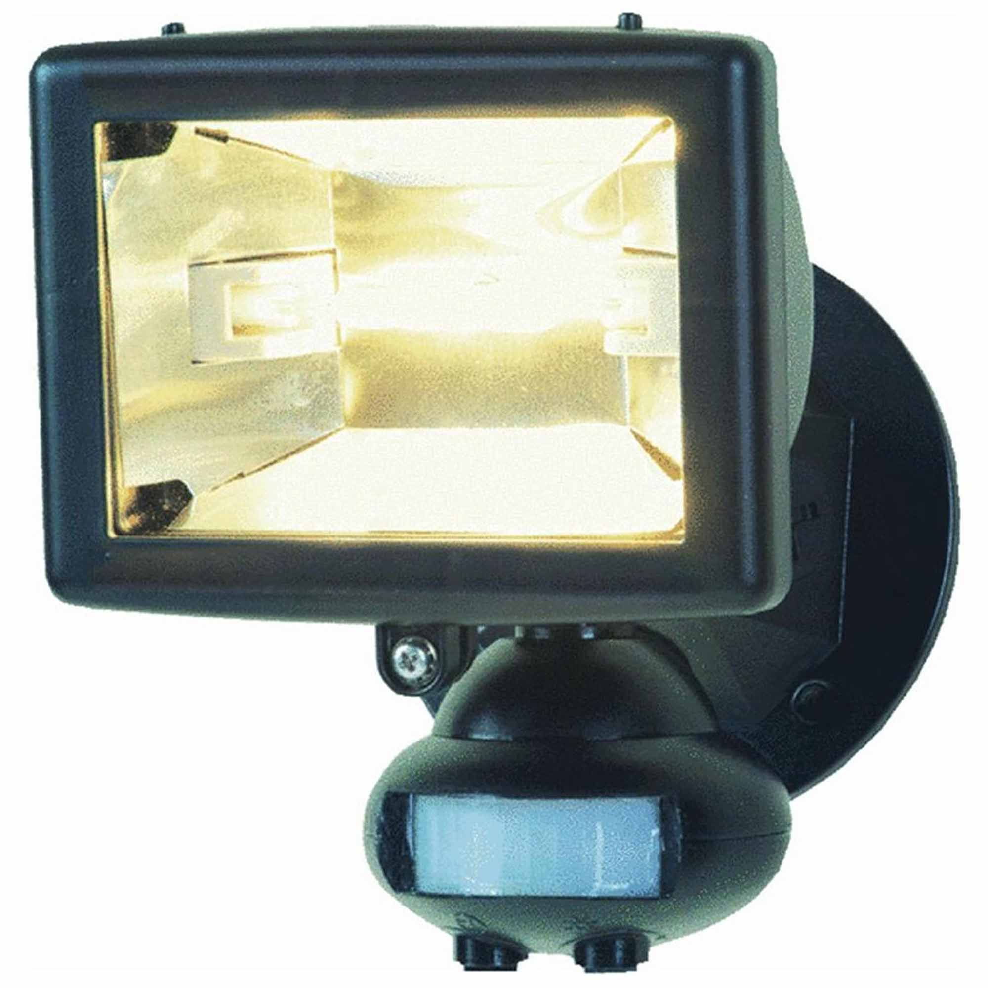 Cooper Lighting 110-Degree 150W Halogen Motion-Activated Floodlight, Black