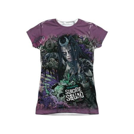 Suicide Squad DC Comics Enchantress Psychedelic Juniors Front/Back Print T-Shirt - Dc Enchantress