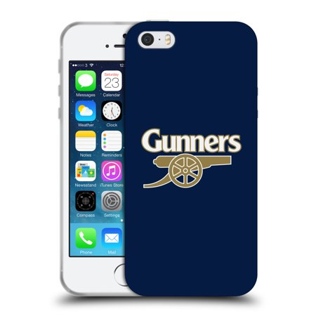 OFFICIAL ARSENAL FC 2016/17 CREST SOFT GEL CASE FOR APPLE IPHONE PHONES