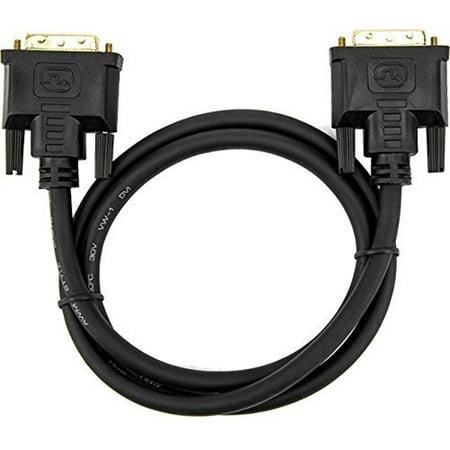 Rocstor Premium 3 ft DVI-D Single Link Cable - M/M Gold Plated Connector (Helm Single Cable)