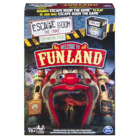 Spin Master Games - Escape Room Expansion Pack - Welcome to Funland - Halloween Pack Meeting Games