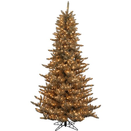Vickerman 3' Antique Champagne Fir Artificial Christmas Tree with 100 Clear Lights ()