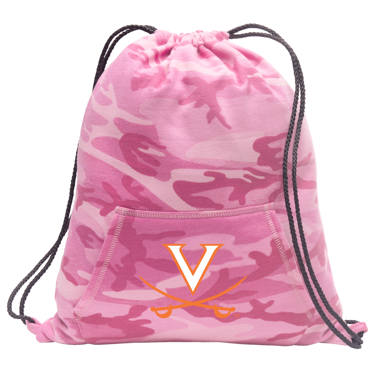 Girls University of Virginia Drawstring Backpack Pink Camo UVA Cinch Pack for Girls Women Her