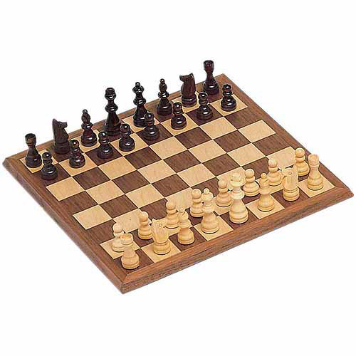 "Classic Chess Set, Walnut Wood Board, 12"" by Generic"