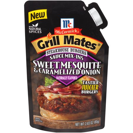 - (4 Pack) McCormick Grill Mates Sweet Mesquite & Caramelized Onions, 2.83 oz
