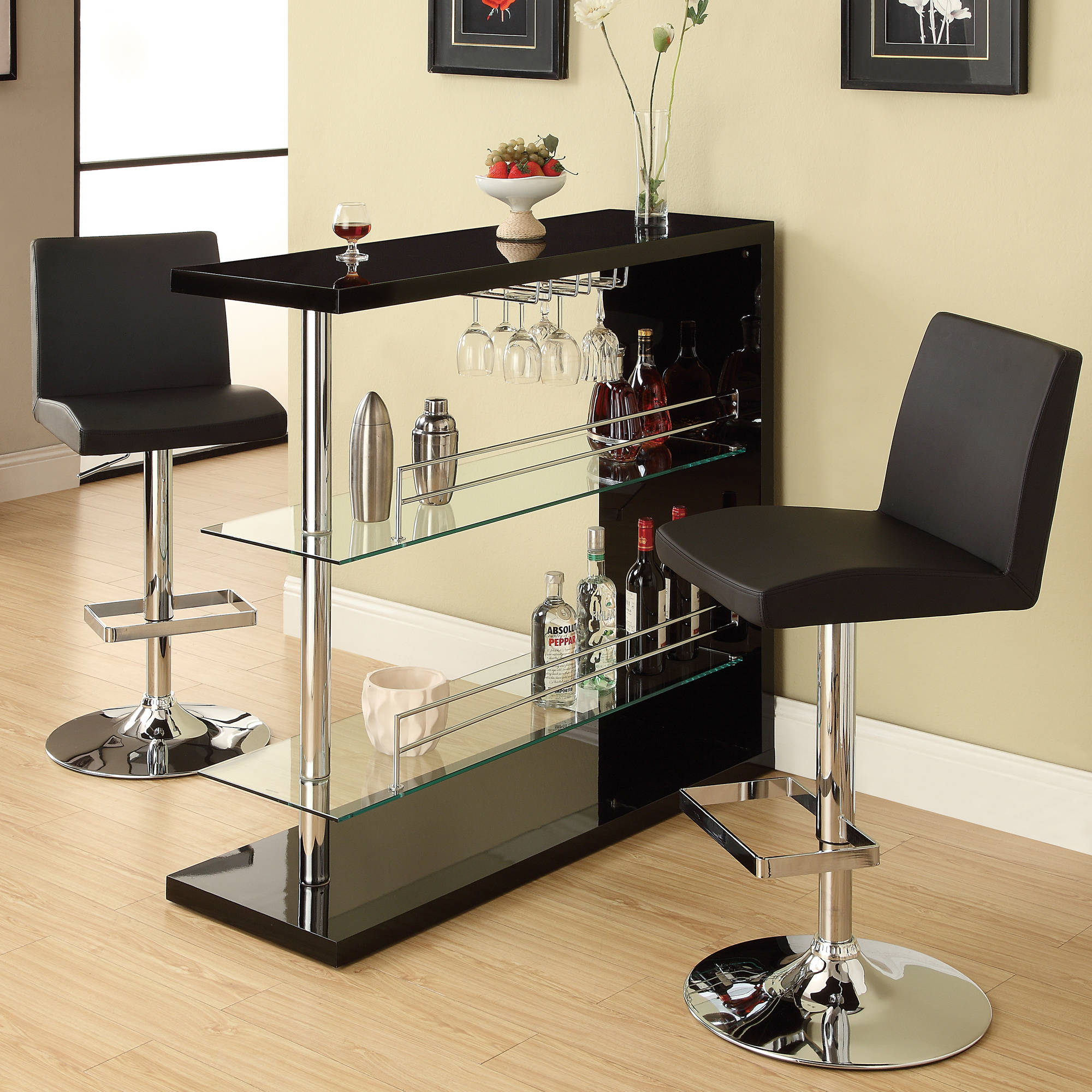 Coaster Company Bar Table, Gloss Black