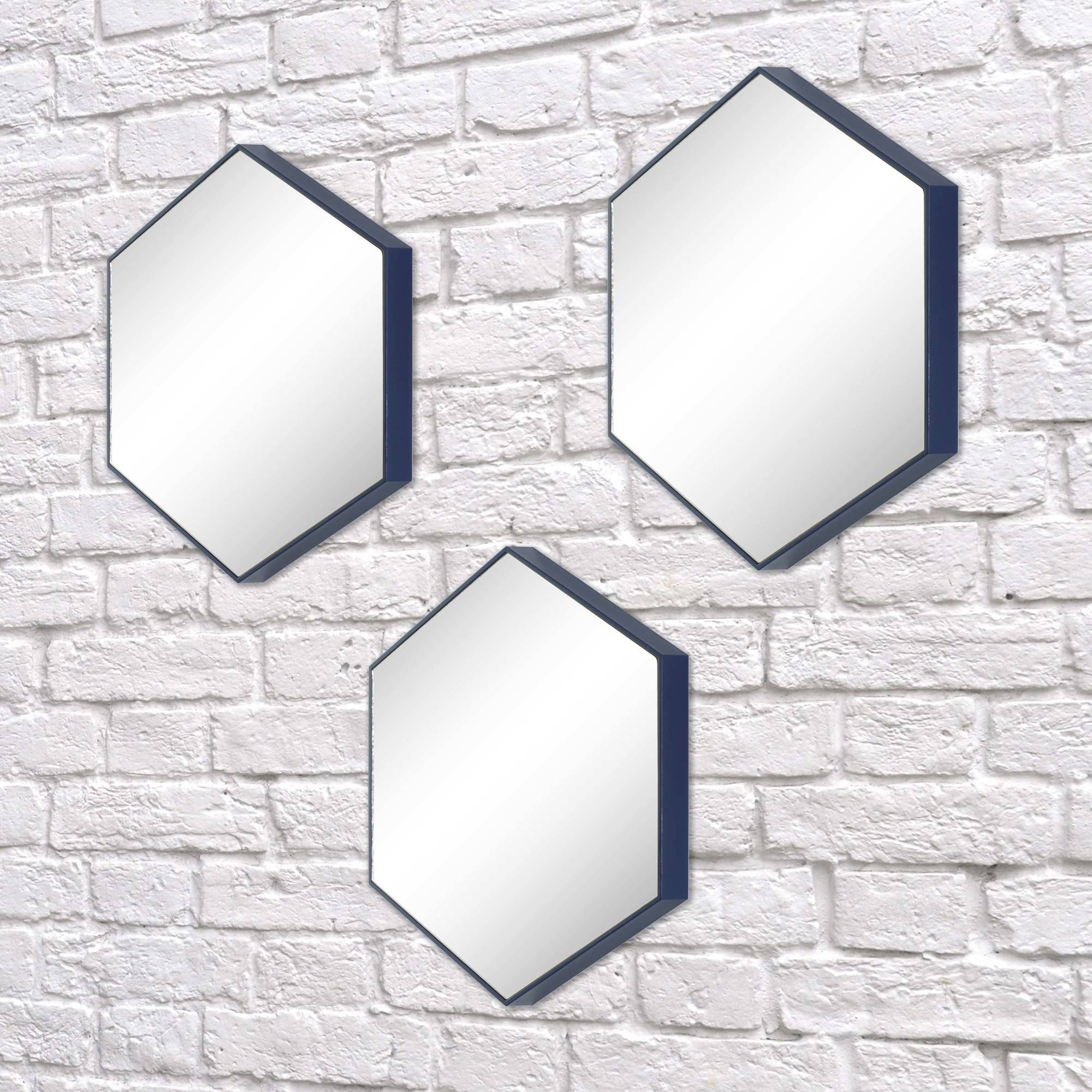 "Better Homes and Gardens 10"" (25.4 cm) 3-Piece Honeycomb Mirror Set, Navy by Infiniti Group International, Inc."