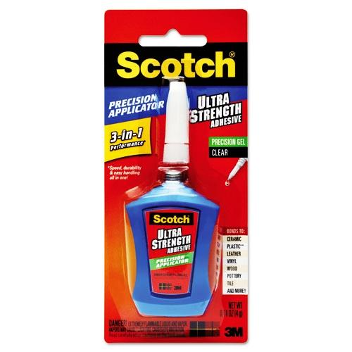 3M Scotch Ultra Strength Adhesive in Precision Applicator, .14 oz ADH670