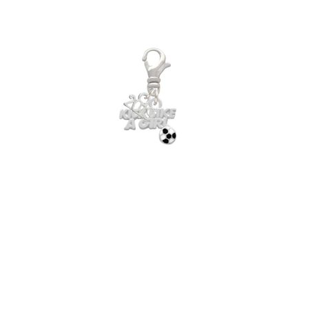 Silvertone Kick Like a Girl with Enamel Soccer Ball - 2019 Clip on Charm - Girls Kick Balls