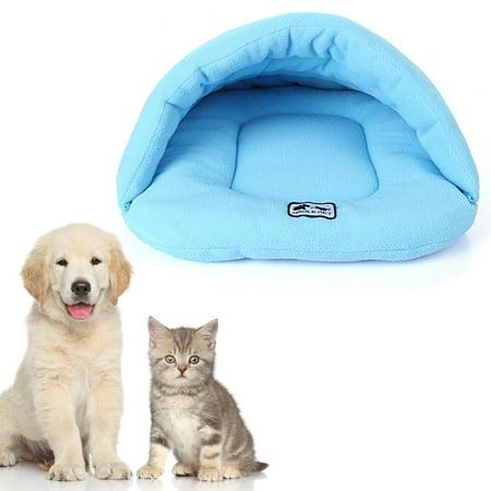Soft Polar Fleece Pet Mat Winter Warm Nest Pet Cat Small Dog Puppy Kennel Bed Sofa Sleeping Bag Camel M - image 2 de 7