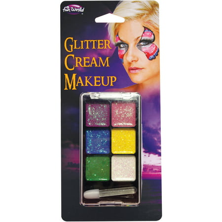 Glitter Creme Makeup Palette Adult Halloween Accessory - Old Lady Makeup For Halloween