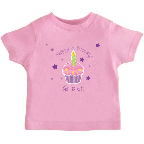 Personalized Birthday Toddler's T-Shirt, Cupcake