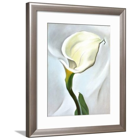 Calla Lily Turned Away, 1923 Framed Art Print Wall Art  By Georgia O'Keeffe - 23.5x28