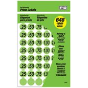 Hy-Ko Products 30101 0.75 in. Green Price Label, 648 Pieces