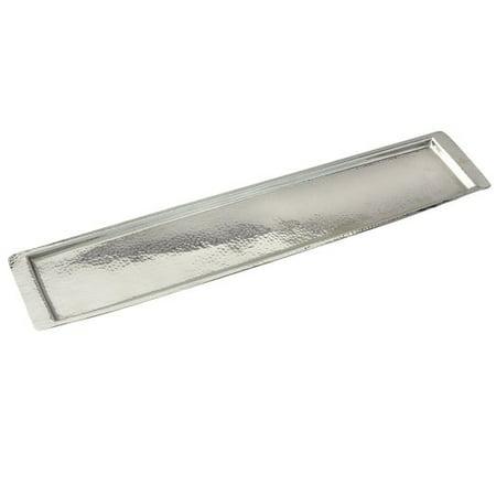 Round Stainless Steel Serving Tray (Heim Concept Elegance Stainless Steel Hammered Serving Tray)