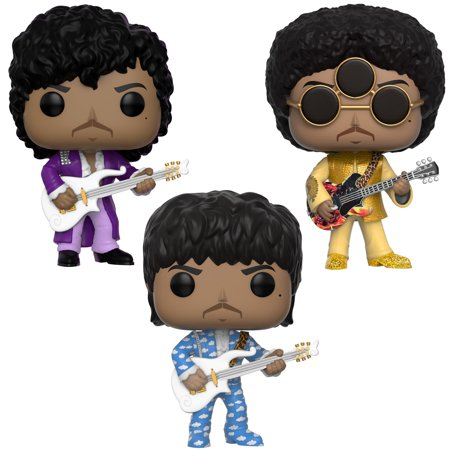 Funko POP! Rocks Prince Collectors Set - Prince Purple Rain, Prince Around the World in a day, Prince 3rd Eye Girl - Purple Rock