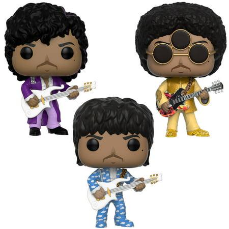 Funko POP! Rocks Prince Collectors Set - Prince Purple Rain, Prince Around the World in a day, Prince 3rd Eye - Rain Blo Pops