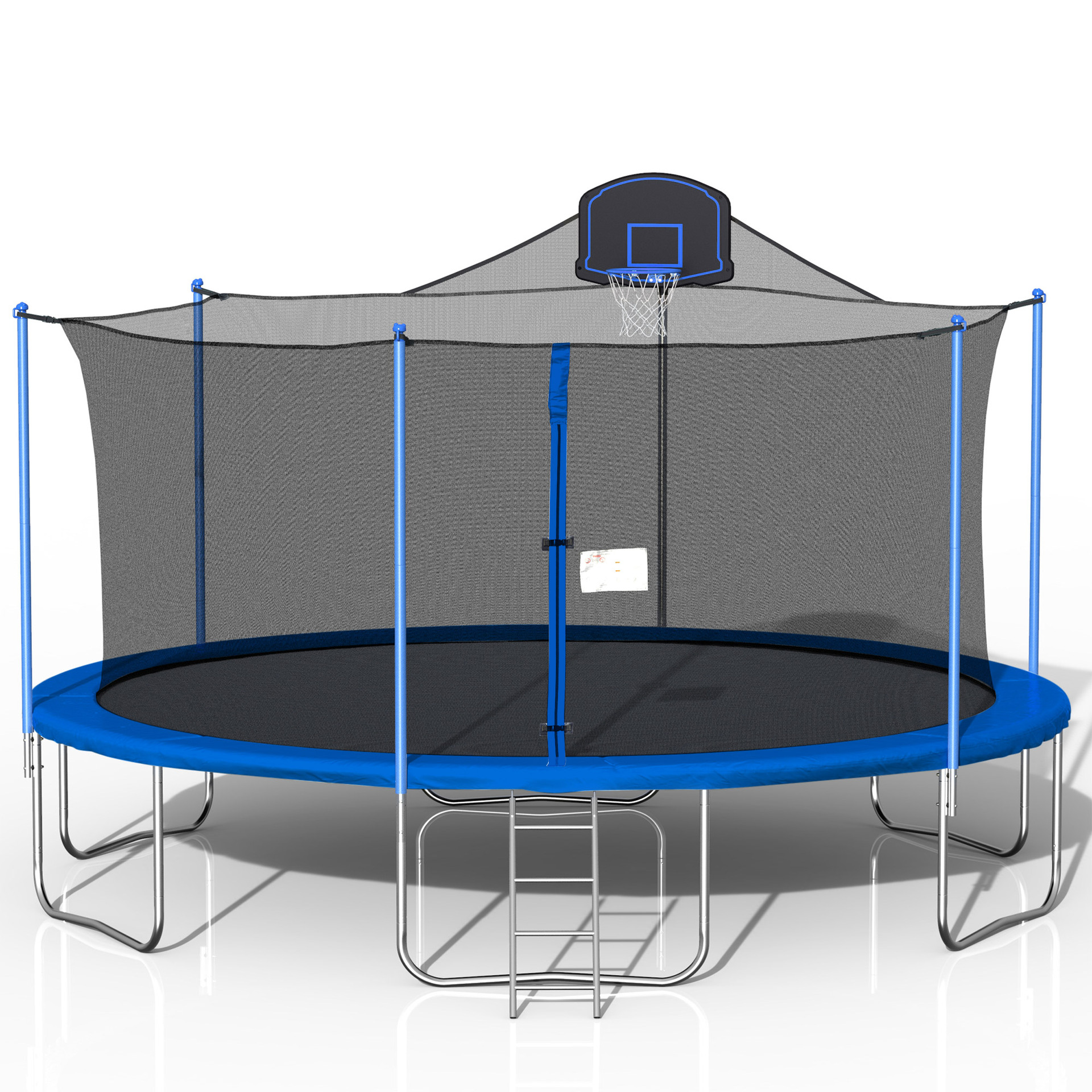 Inclake Trampoline with Ladder Enclosure Net and Basketball Hoop