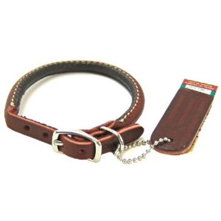Coastal Pet Products DCP220312 Leather Latigo Round Dog Collar, 3/8 by 12-Inch Multi-Colored