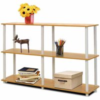 Furinno Turn-N-Tube No-Tools 3-Tier Double Size Storage Display Rack