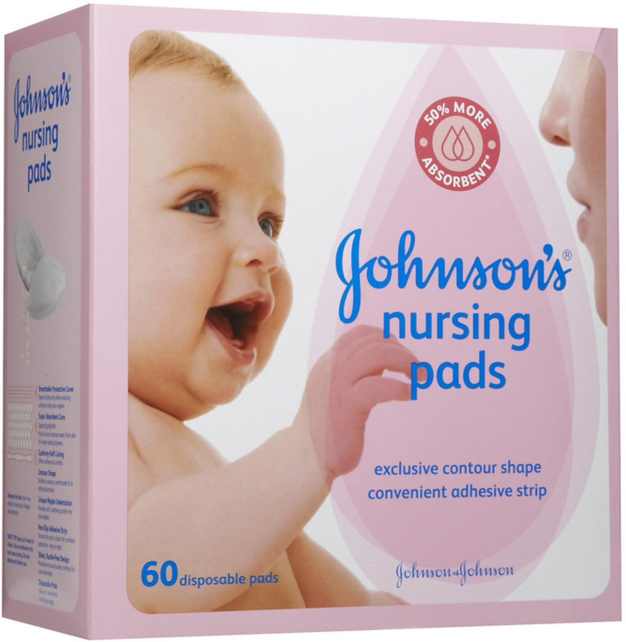 JOHNSON'S Nursing Pads 60 Each (Pack of 4) by Johnson %26 Johnson